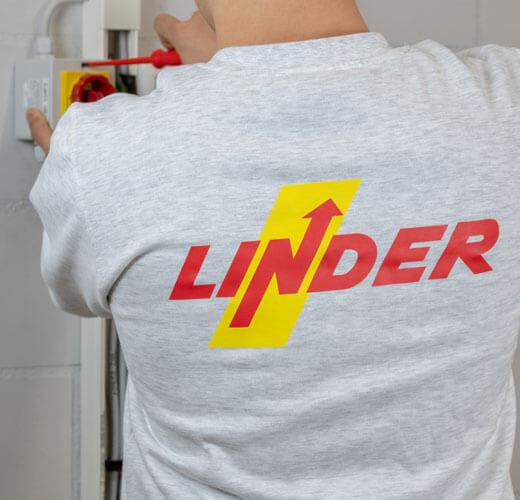 Linder Logo auf Pullover